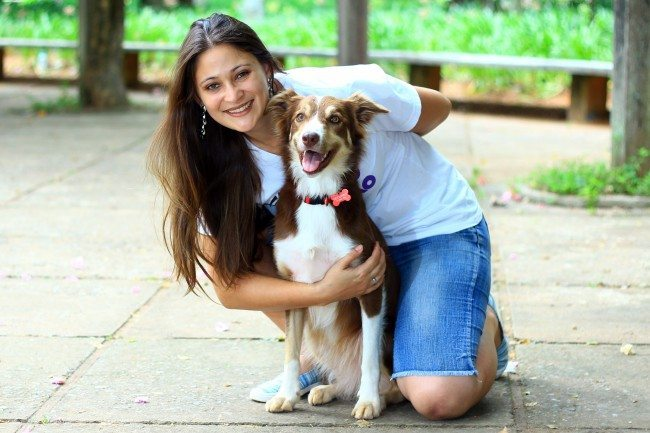 Fernanda Conrado e Catarina - Adestradora Tudo de Cão