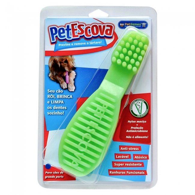 Brinquedo-Pet-Escova-Verde-Pet-Games